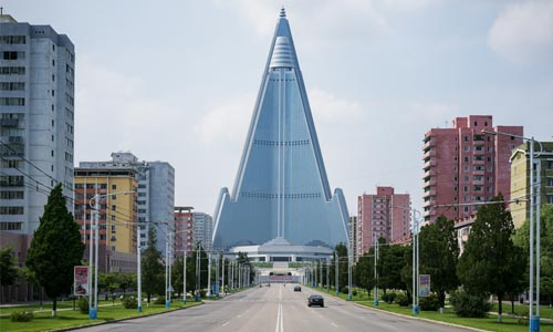 The Ryugyong Hotel or Yu-Kyung Hotel in North Korea