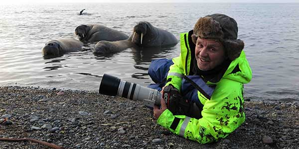 Doug Allan with Seals