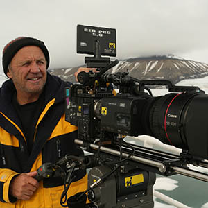 Doug filming with his RED camera