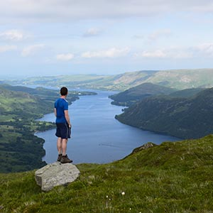 Gazing over Ullswater in the Lake District