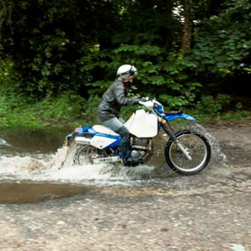 TTR250 river crossing
